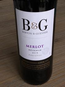 B & G Merlot Reserve 2015, IGP Pays d' Oc, Frankrijk