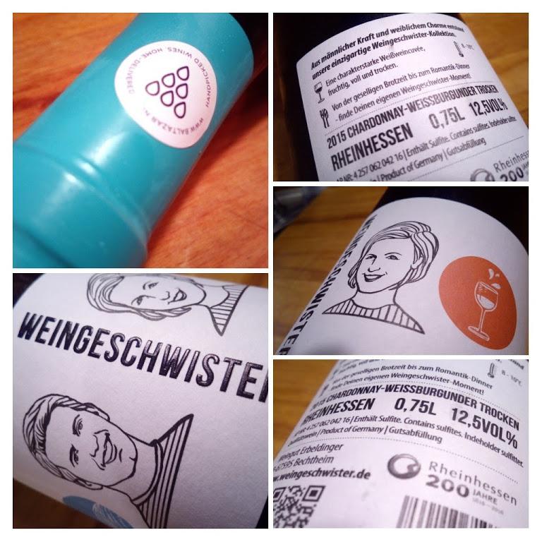 Baltazar Wijnbox Weingeschwister 2015, Rheinhessen detail