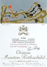 De etiketten van Chateau Mouton Rothschild, 1981