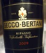 Secco-Bertani 2009, Ripasso Valpolicella-Valpantena