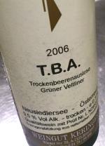 Weingut Keringer 2006, Trockenbeerenauslese. Oostenrijk