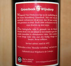 Wijngaard van Ditshuizen Pinotin 2009 rugetiket