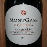 MontGras Reserva Carmenère 2011