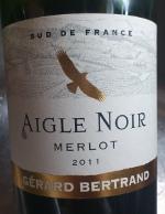 Aigle Noir 2011, merlot, igp frankrijk, mitra