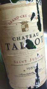 Ch. Talbot 1989, Saint Julien, 4e Grand Cru Classé