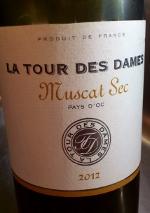 La Tour des Dames 2012, Muscat Sec, I.G.P. Languedoc, Frankrijk