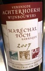 Maréchal Foch 2007, Barrique. Gelderland, Nederland