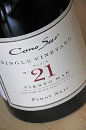 Cono Sur Sigle Vineyard Block no 21 Pinot Noir 2011