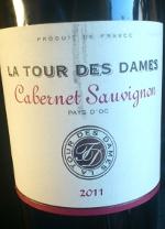 la tour des dames 2011, cabernet sauvignon, pays d'oc, frankrijk