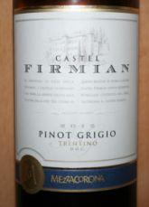Castel Firmian Pinot Grigio 2012