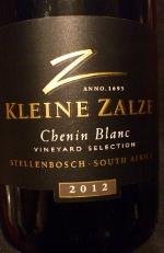 Kleine Zalze 2012, Chenin Blanc, Stellenbosch, Zuid Afrika