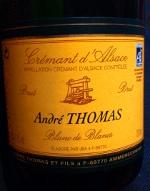 André Thomas Brut, Blanc de Blancs, Crémant d'Alsace