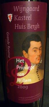 Het Privilege van Willem 2009, Wijngaard Kasteel Huis Bergh, Montferland