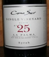Cono Sur Single Vineyard Syrah 2011