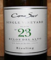 Cono Sur Single Vineyard Riesling 2012