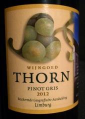 Wijngoed Thorn 2012, Pinot Gris, Nederland