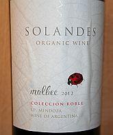 Solandes Malbec Coleccion Roble 2012