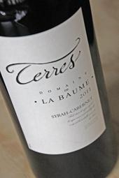 """Domaine de La Baume """"Terres"""" 2011 Syrah-Cabernet"""