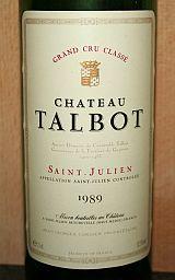 Chateau Talbot 1989