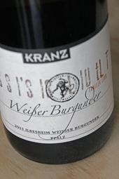 Weingut Kranz Weißer Burgunder Trocken 2011