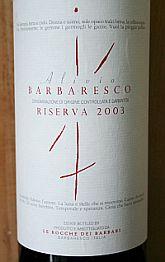 Alivio Riserva 2003 Barbaresco