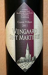 Wijngaard St. Martinus Cuvée Villare 2011