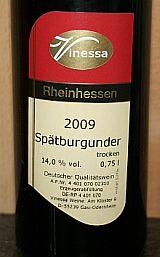 Vinessa Spätburgunder 2009