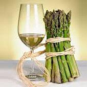 wijn en asperges