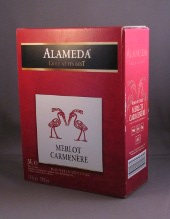 alameda, aldi, merlot carmenere, chili, bag in box