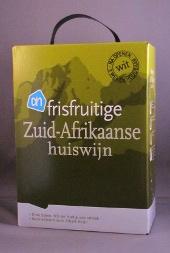 albert heijn, frisfruitige zuid afrikaanse huiswijn, bag in box wit