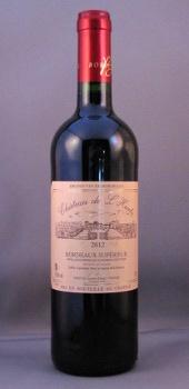 ch de l'hurbe 2012, bordeaux superieur, vin rouge