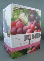 jumbo europa halfzoet rosé, bag in box