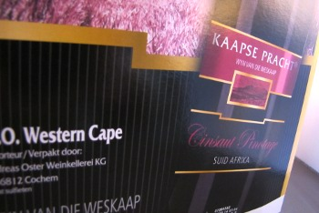 kaapse pracht, cinsaut pinotage, zuid afrika, westkaap, bag in box bag in box detail