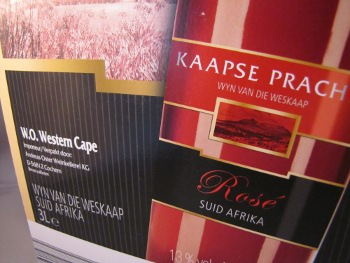 kaapse pracht, western cape rosé, zuid afrika, bag in box