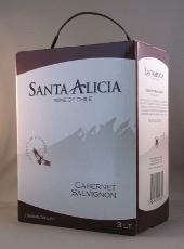 santa alicia, chili, cabernet sauvignon, sligro, bag in box