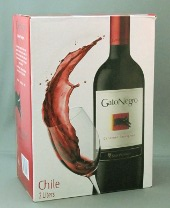 gato negro cabernet sauvignon, bag in box, chili, 2 liter
