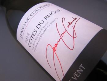 Jean Luc Colombo 2012, Côtes du Rhône Blanc, Le Vent, Frankrijk