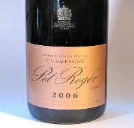 Extra cuvee de reserve, champagne, pol roger, rosé 2006