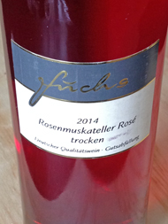 Füchs Rosenmuskateller Rosé Trocken 2014