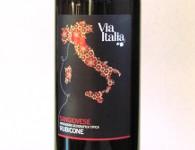 Via Italia, Sangiovese igt, rubicone, Italië detail