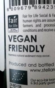 biologisch, biodynamisch, vegan, vegan friendly, EKO, organic of organisch, no added sulphur op het etiket van wijn
