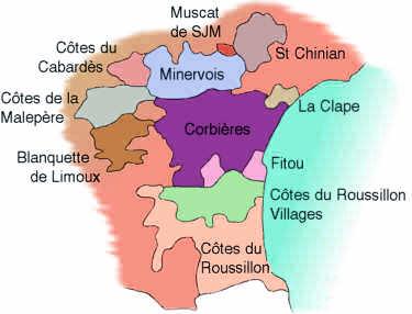 wijnregio languedoc - roussillon