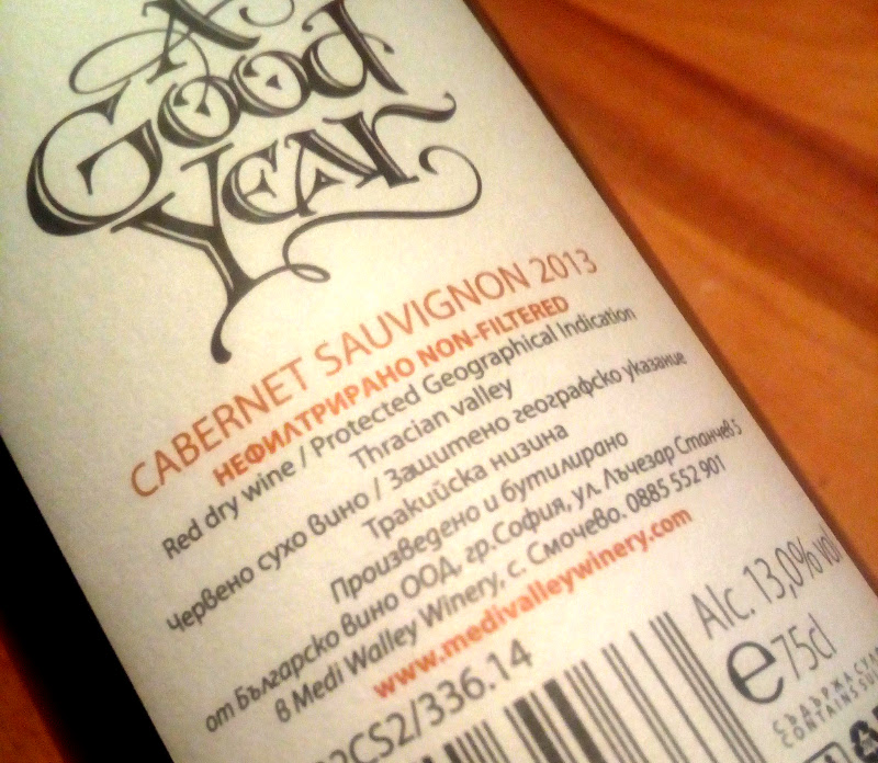 A Good Year 2013, Cabernet Sauvignon, Medi Valley, Bulgarije