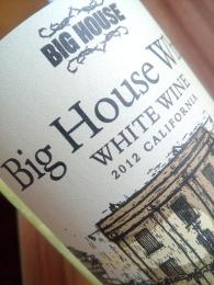 Big house wine, white wine, 2012, californië, usa, amerika