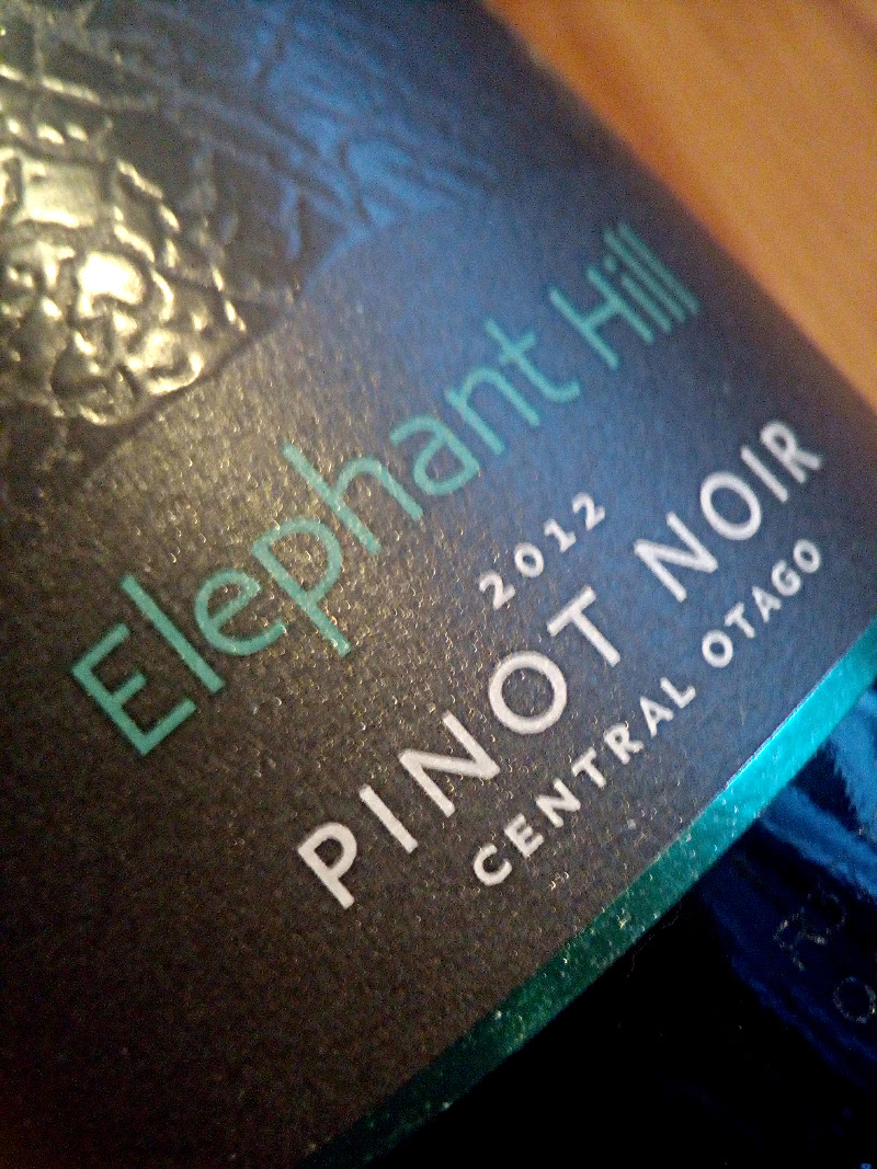 Elephant Hill 2012, Pinot Noir, Central Otago, Nieuw Zeeland