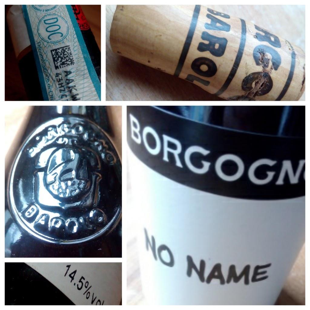 Borgogno, No Name 2011, Langhe, Piemonte, Italië detail