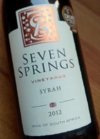 Seven Springs 2012, Syrah, Hemel en Aarde Vallei, Zuid Afrika