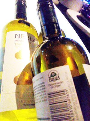 nebla, witte wijn van verdejo druif uit rueda