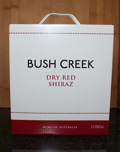 Bush Creek, Dry Red Shiraz 2014, Zuid Australië detail 1