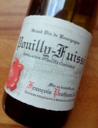 Francois Protheau 2014, Pouilly Fuissé, Bourgogne, Frankrijk detail